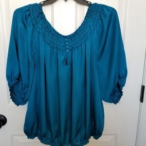 Violet and Claire Blue Blouse 3X, Gently Used